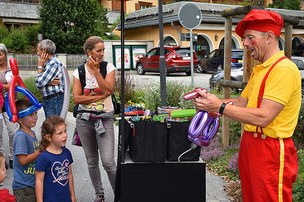 Clown Sascha in Aktion