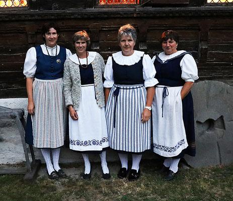 Die Museumsfrauen waren sehr zu zufrieden über den Besucheraufmarch.