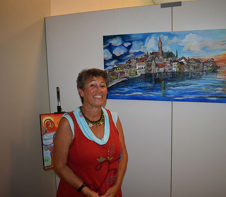 Ebenfalls sehenswert waren die Bilder von Bea Weber im Kirchgemeindehaus.