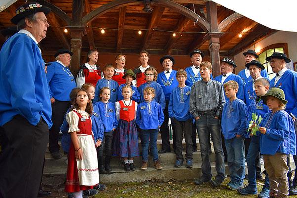 Das Kinderjodelchörli Silvrettastärnli unter der Leitung von Domenique Bolt wusste auch dieses Jahr zu begeistern.