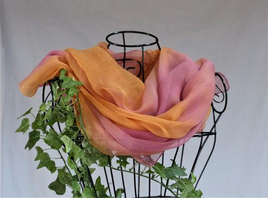 pflanzengefärbter Schal-ORANGINA