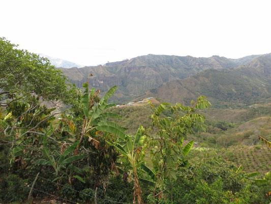 Auf dem anderen Hügel sieht man die Dächer, welche über den Gräbern aufgebaut wurden, bei denen wir gerade vorher noch waren.