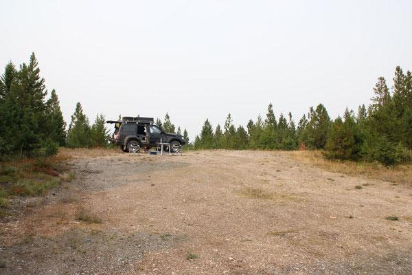 Unser Platz für Mittagsrast und Service unterhalb des Mormon Peak