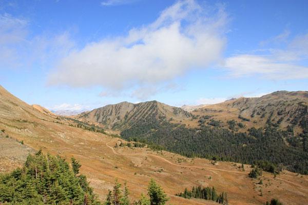 Die Aussicht vom 3100 m hohen Hendersen Moutain