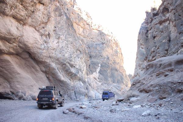 Fahrt aus dem Canyon