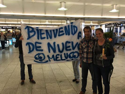 Wir wurden sogar mit einem Plakat begrüsst :) Danke Philipp!