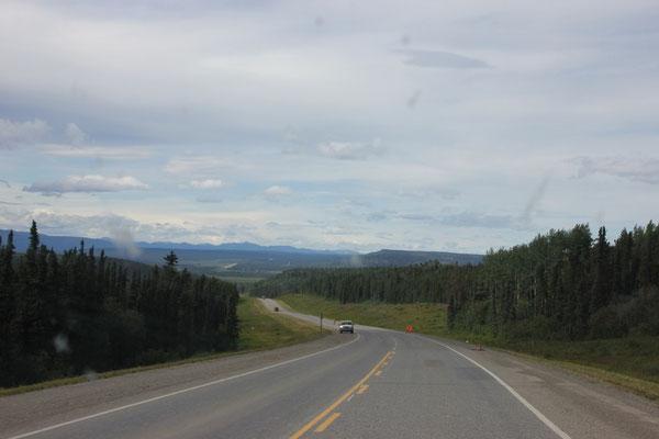 Und da sind sie: die Berge.