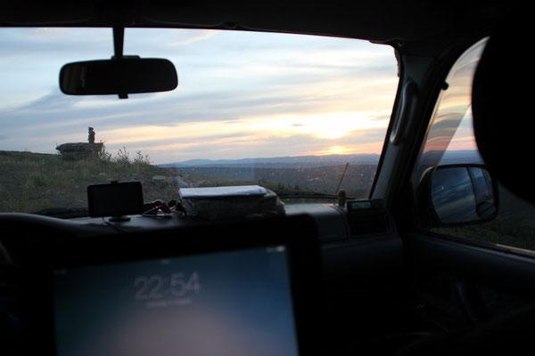 Sonnenuntergang aus dem Bett, und das um diese Uhrzeit!