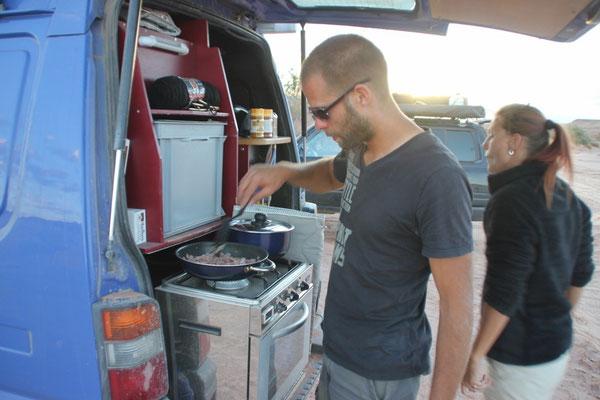 Der Koch am Werk.