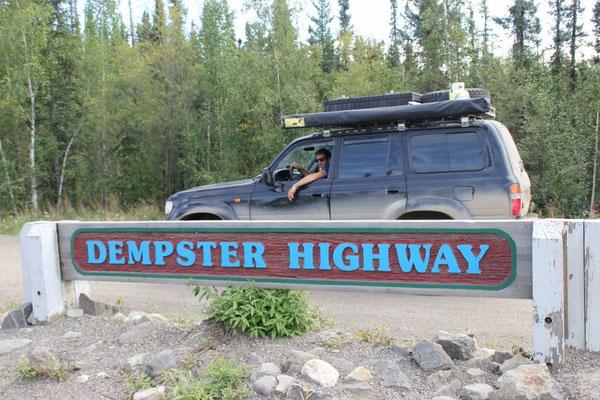 Da ist er: der berühmte Dempster Highway