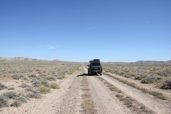 Mitten durch die Wüste Richtung Powell...