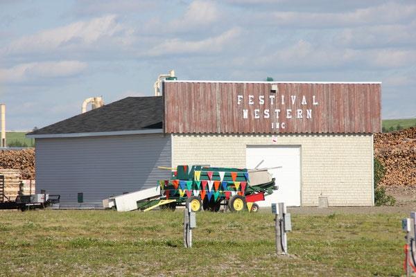 Er wird nämlich erst nächste Woche fürs Western-Festival eröffnet.
