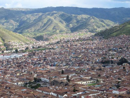 Tolle Aussicht über Cusco.