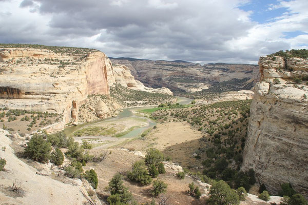 Auf der Kante des Canyons angekommen.