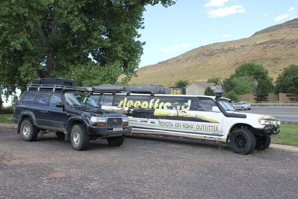 Eine Offroad-Limousine sieht man auch eher selten.