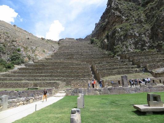 Die Ruinen von Ollantaytambo