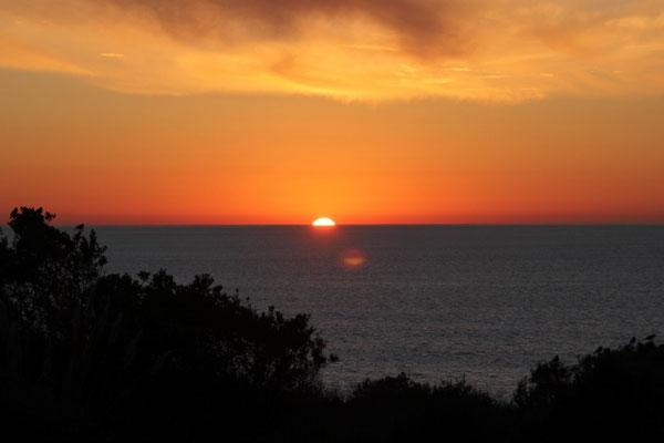 Der Sonnenuntergang war jeden Abend ein Traum!