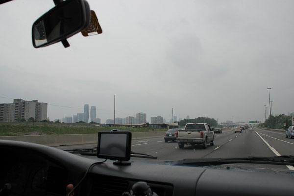 Viel Verkehr rund um Toronto