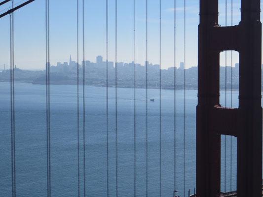Downtown durch die Golden Gate Brücke