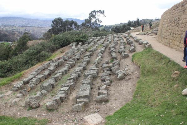 Diese Steine wurden von den umwohnenden Personen zum Häuserbau benutzt und wieder zurückgebracht.