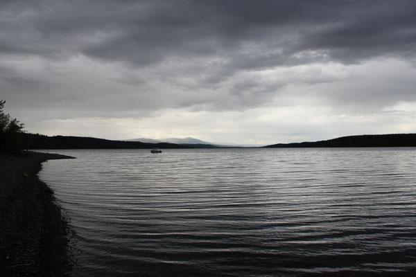 Seen gab es immer wieder, schlechtes Wetter auch...