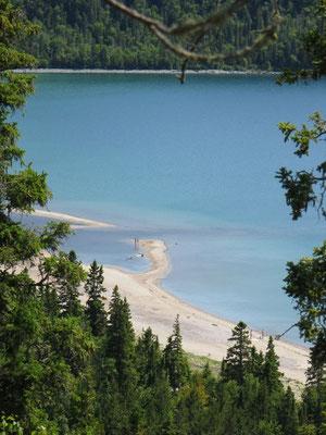 weisser Sand, wie man ihn in der Karibik erwarten würde