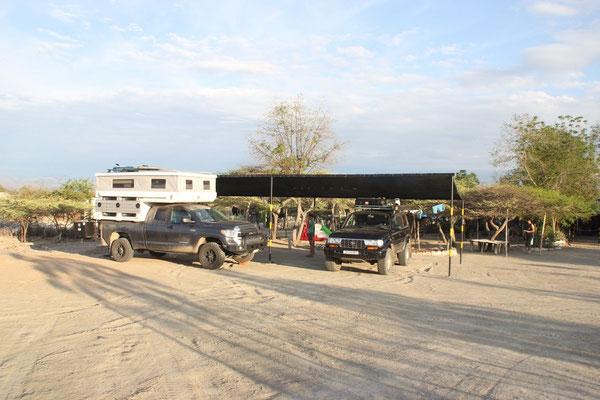 Unser Camping mitten in der Wüste.
