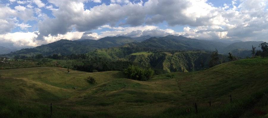 Die traumhafte Aussicht vom Campingplatz in Salento.