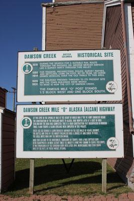 Angekommen in Dawson Creek