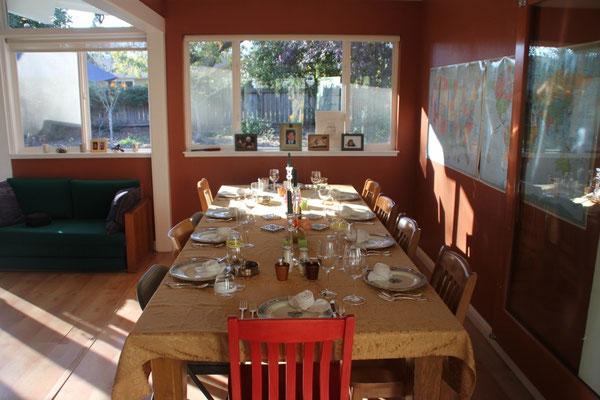 Der schön gedeckte Tisch.
