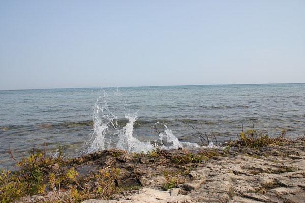 """""""Wellen"""" auf der Bruce Peninsula, Blick Richtung Lake Huron"""