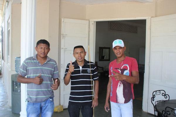 Eric, Mingo und Roy.