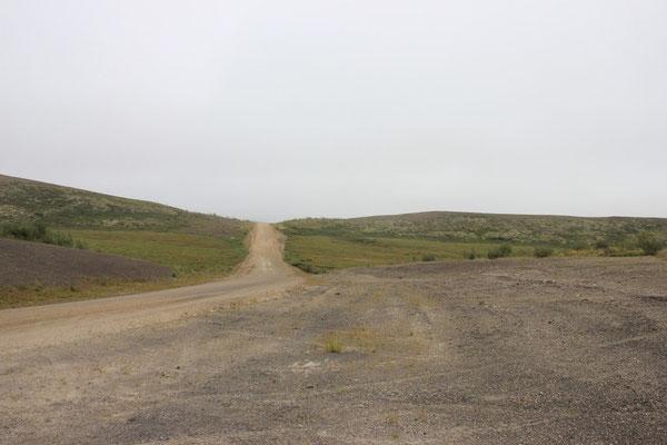 Wir fuhren nur ein paar wenige Kilometer und drehten wieder um.