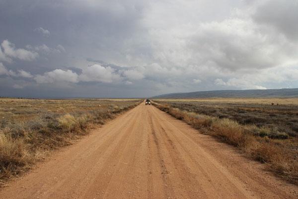 Die Fahrt von den Coyote Buttes South zum Grand Cayon.