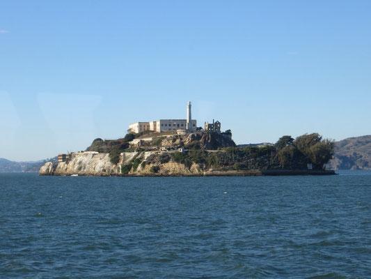 Mit einer Fähre ging es auf die Insel Alcatraz.