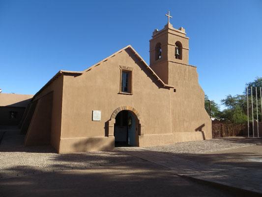 Die schöne Kirche in San Pedro de Atacama.