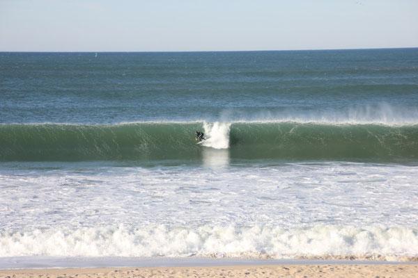 Die ersten Surfer in Sicht!