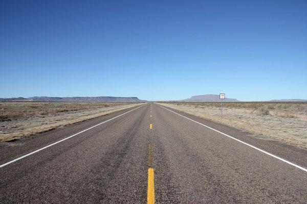 So sah die Fahrt durch Texas zum Big Bend Nationalpark aus.