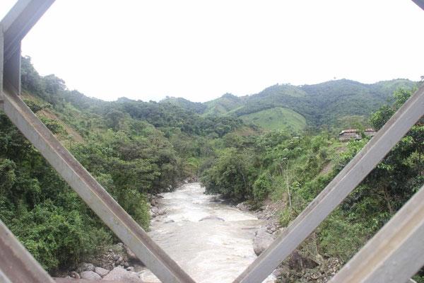 Aussicht auf den Fluss.