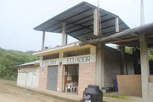 Eines der beiden Grenzgebäude.