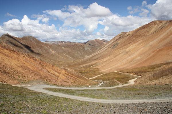 Die Berge hatten wunderschöne Farben.