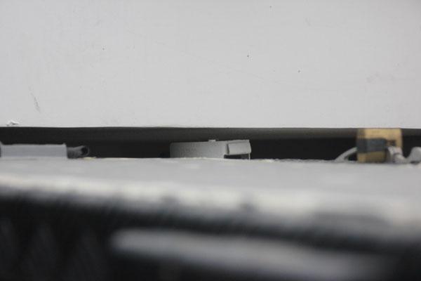 Das war knapp! Der Verschluss der Gasflasche ist das höchste an unserem Fahrzeug. Wir sind ca. 2.40 m hoch.