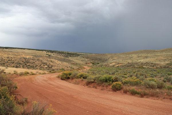 Die Gewitterwolken machten eine spezielle Stimmung.