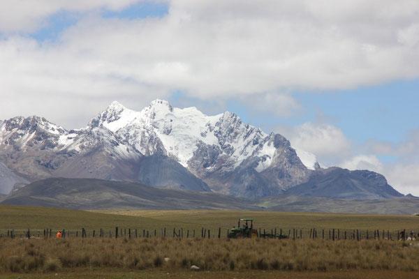 Die hohen Gipfel in er Cordillera Blanca.