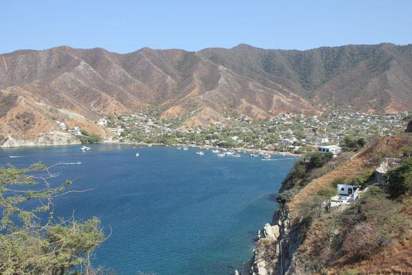 Taganga liegt in dieser schönen Bucht.