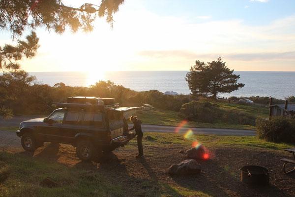 Schöner Campingplatz direkt am Meer.