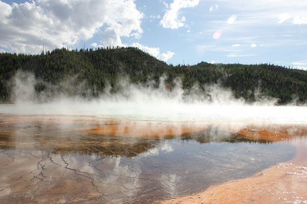 Bei der Grand Prismatic Spring.