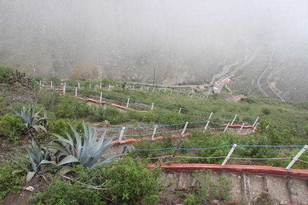 """Der steile Weg zum Aussichtspunkt """"Nariz del Diablo"""""""
