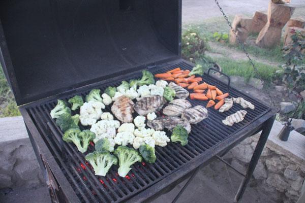 Ja - wir mögen Gemüse! Wenn man es nicht selbst kocht, kriegt man das hier sonst kaum.