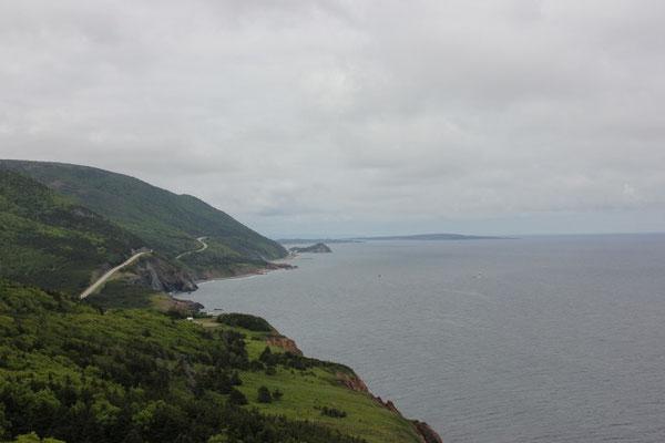 schöne Aussicht vom Cabot Trail aus